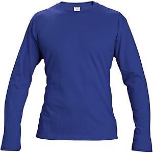 Hosszú ujjú póló, pamut, méret: M, királykék