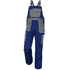Pracovné nohavice s náprsenkou CERVA MAX EVOLUTION, veľkosť 48, modré