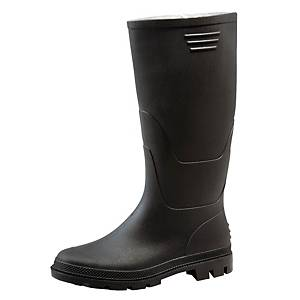 PAIR GINOCCHIO HIGH PVC BOOTS 42 BLACK