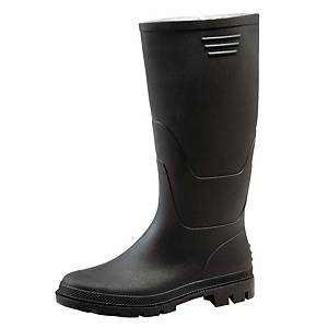 PAIR GINOCCHIO HIGH PVC BOOTS 43 BLACK