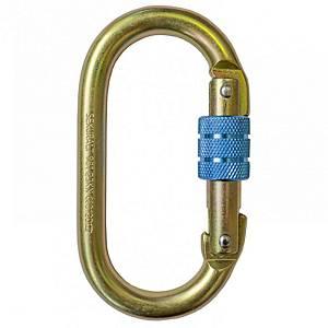 Mosquetón de acero con cierre de rosca Irudek 981 - 17 mm