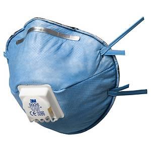 Caixa de 10 máscaras descartáveis 3M 9926 - FFP2 - moldadas com válvula