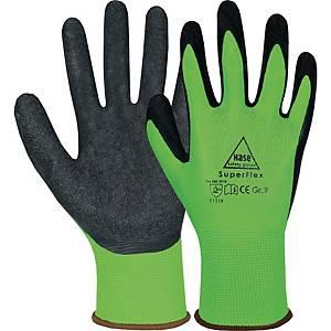 Mechanikschutzhandschuhe Hase 508610, Größe 8, schwarz/grün, 1 Paar