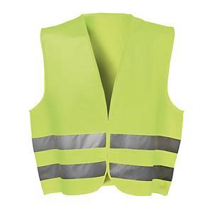 Warnschutzweste mit Klettverschluss, Einheitsgröße, gelb
