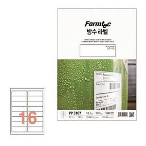 PK10 FORMTEC PP3107 W-PRF LABEL 99.1 X 33.9