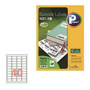 PK100 PRINTEC V3410-100 BARCODE LABEL