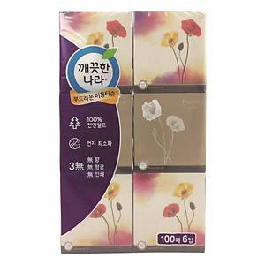 PK6 KLEANNARA FACIAL TISSUE 100SHEET