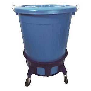 HEAVY DUTY REFUSE BIN 110L BLUE