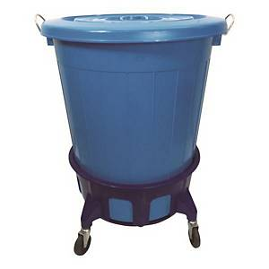 HEAVY DUTY REFUSE BIN 75L BLUE