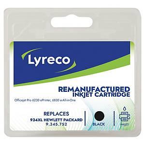 Tintenpatrone Lyreco komp. mit HP C2P23A - 934XL, Reichweite: 1.000 Seiten, swz