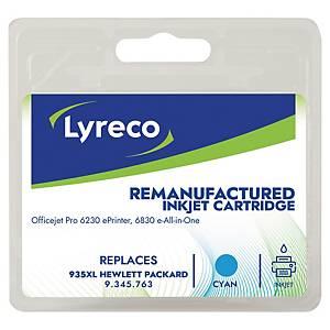 Tintenpatrone Lyreco komp. mit HP C2P24A - 935XL, Reichweite: 825 Seiten, cyan