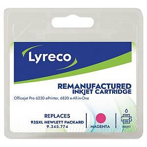 Tintenpatrone Lyreco komp. mit HP C2P25A - 935XL, Reichweite: 825 Seiten, mag