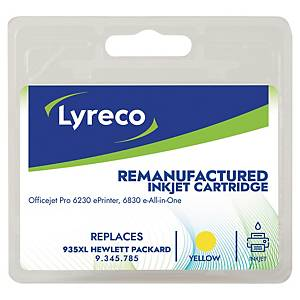Tintenpatrone Lyreco komp. mit HP C2P26A - 935XL, Reichweite: 825 Seiten, gelb