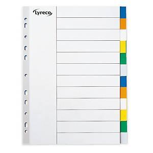 Juego de 10 separadores Lyreco - folio - PP - multitaladro