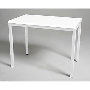 Mesa de break con medidas 110x70mm blanco