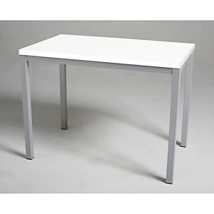 Mesa de break con medidas 110x70mm plata blanco