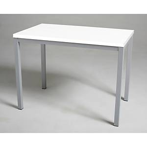 Mesa de break con medidas 110x70mm plata blanco
