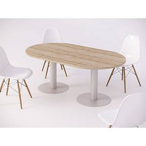 MEETING TABLE OVAL 200X110X75CM BCH/ALUM