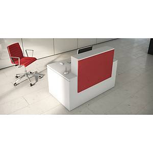 OFITRES RECEP DESK 160/120 LUXE RED/WHT