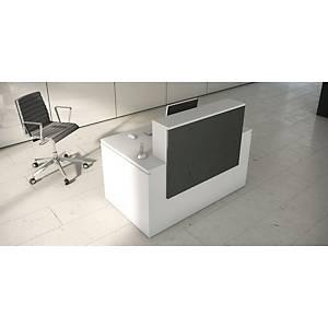 Balcão de receção Ofitres Luxe - larg. 1600 mm - antracite/branco