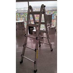 Escadote telescópico Zarges Global Star - 4x4 degraus - 4,13 m - alumínio
