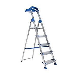 Escalera ZARGES domestica de aluminio de 5 peldaños