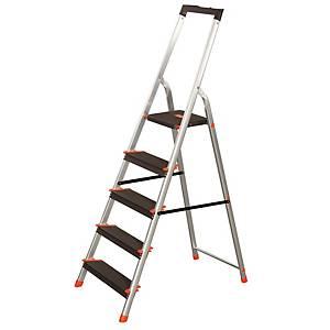 Escalera CENTAURE domestica de aluminio de 8 peldaños