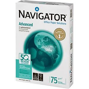 Papier A3 blanc recyclé Navigator Advanced, 75 g, la boîte de 5 x 500 feuilles
