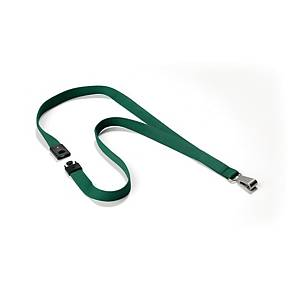 Durable 8127 textile necklace for badge dark green - pack of 10
