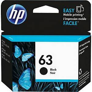 HP F6U62AA 63 Inkjet Cartridge - Black