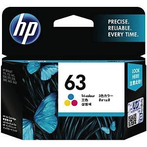 HP F6U61AA 63 Inkjet Cartridge -  Tri-color