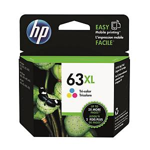 HP F6U63AA 63XL Inkjet Cartridge -  Tri-color