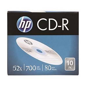 HP CD-R 슬림케이스 80min 700MB 10개입