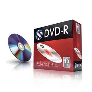 HP DVD-R 슬림케이스 120min 4.7GB 16x 10개입