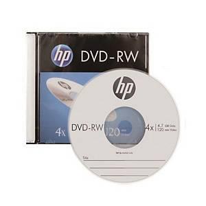 HP DVD-RW 슬림케이스 120min 4.7GB 4x 10개입