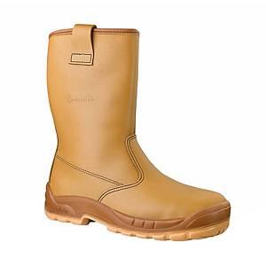 Stivali di protezione a tronchetto Jalette Jalaska S3 SRC beige marrone tg 42