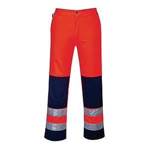 Spodnie ostrzegawcze PORTWEST TX71, pomarańczowo-granatowe, rozmiar S