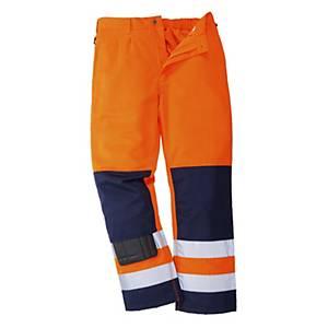 Pantaloni alta visibilità Portwest TX71 arancione/blu tg L