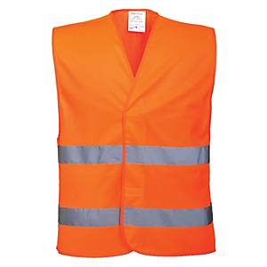Gilet monocolore alta visibilità senza tasche Portwest arancione tg L/XL