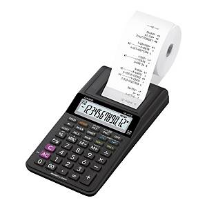 Casio HR-8RCE Printing Calculator, 12-digit display, carbon