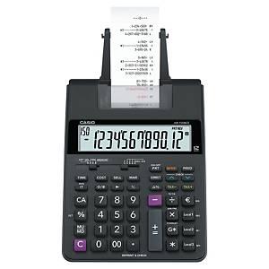 Tischrechner Casio HR-150RCE, druckend, 12-stellig, Batteriebetrieb, schwarz