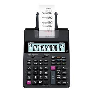 Utskriftskalkulator Casio HR-150RCE, sort, 12 sifre