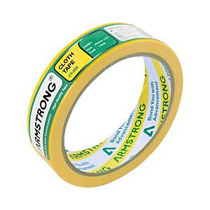 ARMSTRONG Cloth Tape 1   X 8 Yards 3   Core Yellow