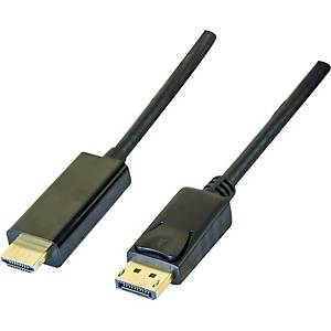Display port 1,1 to HDMI cord black 2 meter