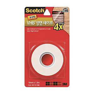SCOTCH 5140 D/SIDED FOAM TAPE 18MM X 4M