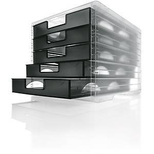 Schubladensystem Styro Lightbox, 5 Schubladen, anthrazit