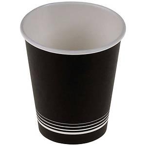Kaffeebecher nero aus Karton 3 dl, schwarz/weiss, Packung à 50 Stück