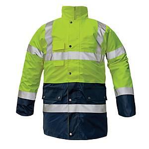 Reflexná zateplená bunda 4v1 Cerva Bi Road, veľkosť M, žltá