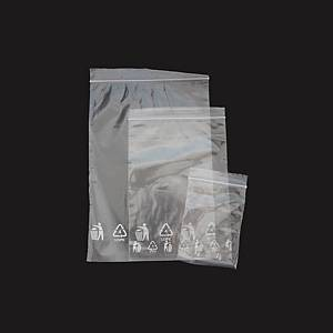 PK100 RESEAL BAG PE 200X300MM TRANS