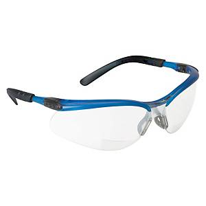 3M BX SAFETY GLASSES 11471 OCEAN BLUE FRAME CLEAR AF LENS